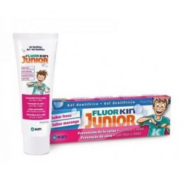 FLUOR KIN JUNIOR GEL  FRESA...